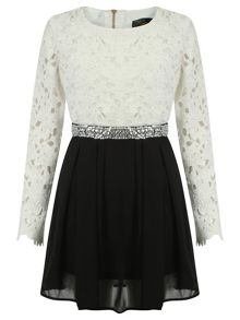 Simone Lace Embellished Dress