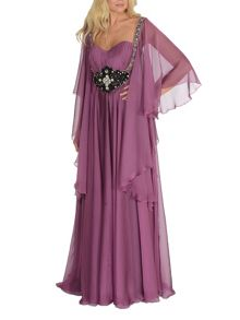 Long chiffon Evening dress