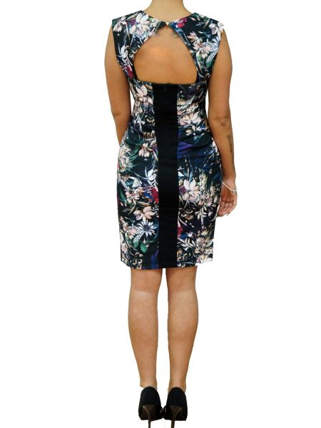 Koo-Ture Floral Cut-out Crepe Dress