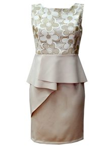 Koo-Ture Origami Peplum Dress