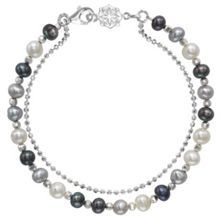 Dower & Hall Silver And Mix Pearl Orissa Bracelet
