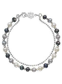 Silver And Mix Pearl Orissa Bracelet
