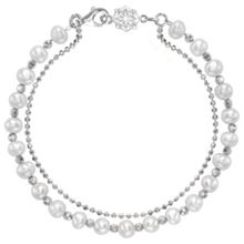 Dower & Hall Silver And White Pearl Orissa Bracelet