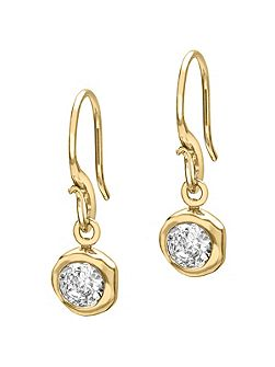 Dewdrop 5mm Gold White Topaz Drops