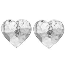 Dower & Hall Nomad Silver Heart Stud Earrings