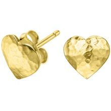 Dower & Hall Nomad Gold Heart Stud Earrings