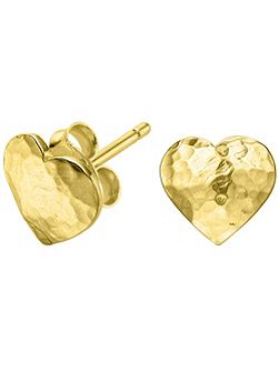 Nomad Gold Heart Stud Earrings