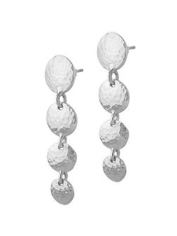 Nomad Silver Disk Drop Earrings