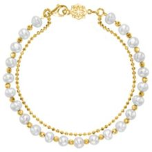 Dower & Hall Gold And White Pearl Orissa Bracelet