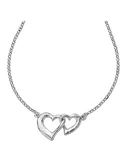 Entwined Silver Love Hearts Pendant