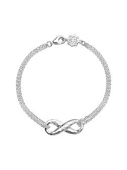 Entwined Silver Infinity Chain Bracelet