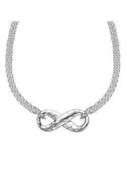 Entwined Silver Infinity Chain Pendant