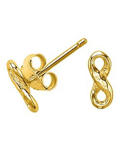 Entwined Gold Infinity Stud Earrings