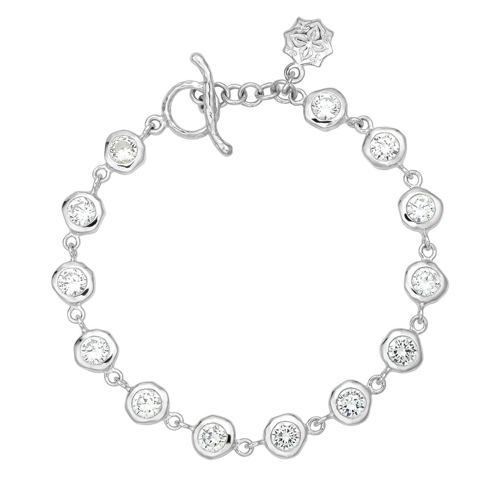 dower and hall dewdrop silver white topaz bracelet