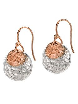 Nomad Rose Mix Double Disk Earrings