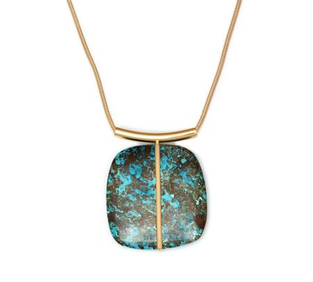 Lola Rose Bassa Statement Necklace Azurite
