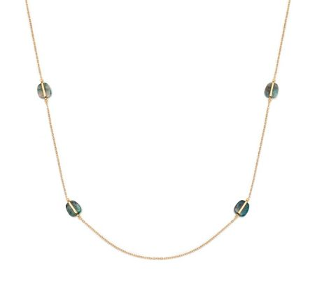 Lola Rose Bassa Station Necklace Azurite