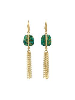 Bassa Tassel Earrings Azurite