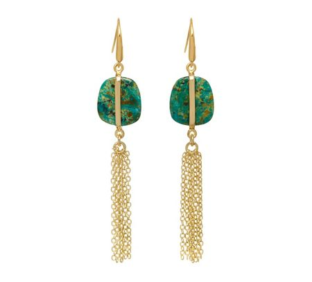 Lola Rose Bassa Tassel Earrings Azurite