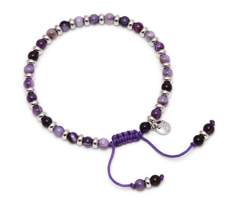 Lola Rose Compton Bracelet Purple Persian Agate