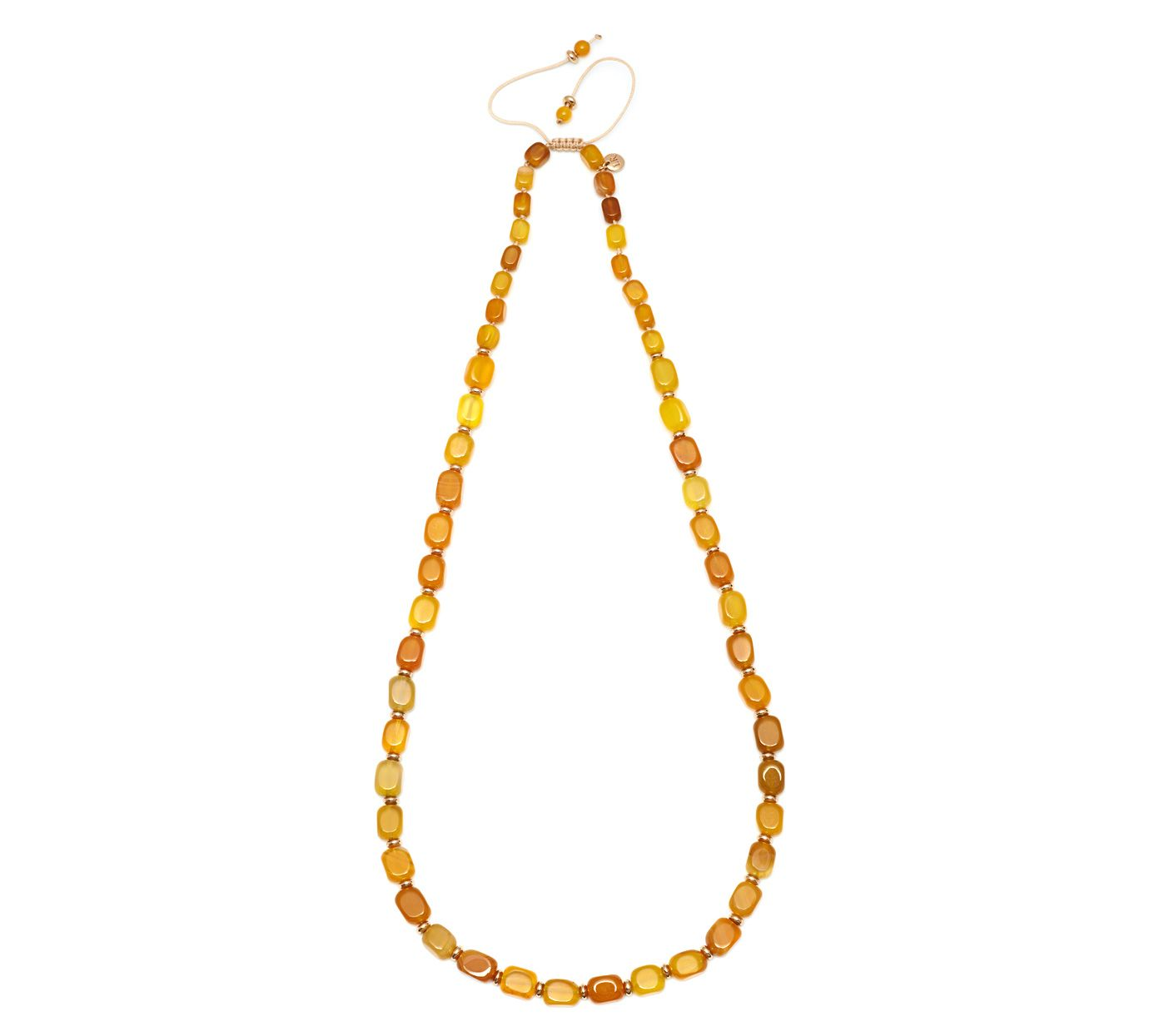 Lola Rose Islington Necklace Amber Agate Yellow