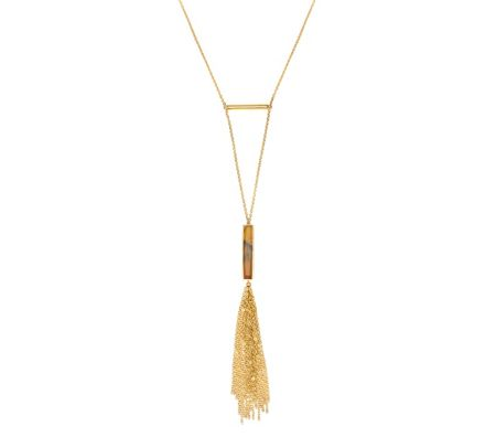 Lola Rose Luxe Tassel Necklace Montana  Agate