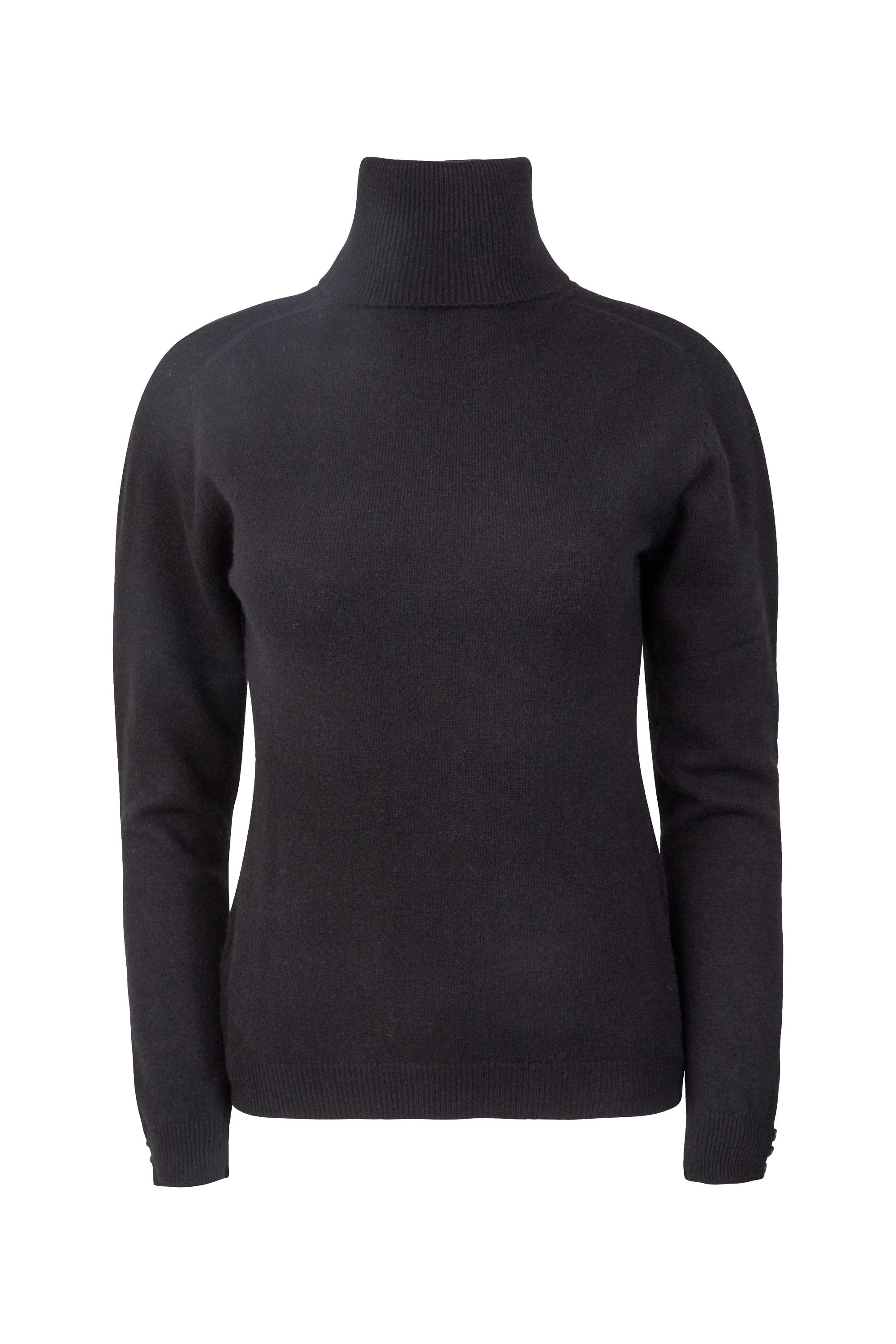 Cashmere Brit Brodie Polo, Black