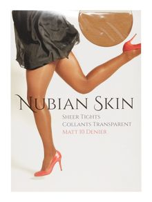 Nubian Skin Cafe au lait matte 10 denier tights