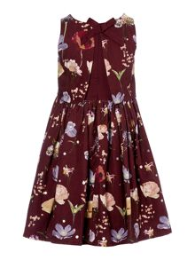 Angel & Rocket Girls Floral Print Occasion Dress with Bow