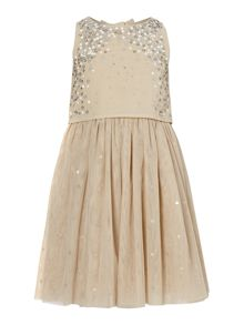 Girls Sequin Detail Occasion Dress