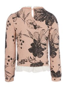 Angel & Rocket Girls Floral Print Crew Neck Sweater