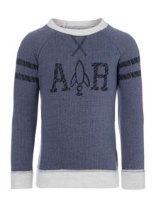 Boys Crew Neck Logo Sweater