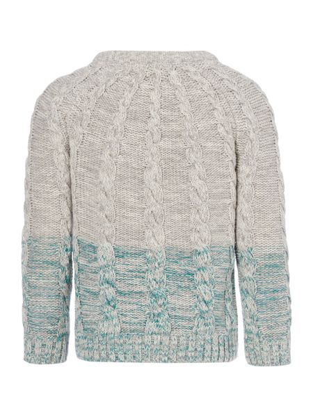 Angel & Rocket Boys Coloured Hem Cable Knit Jumper