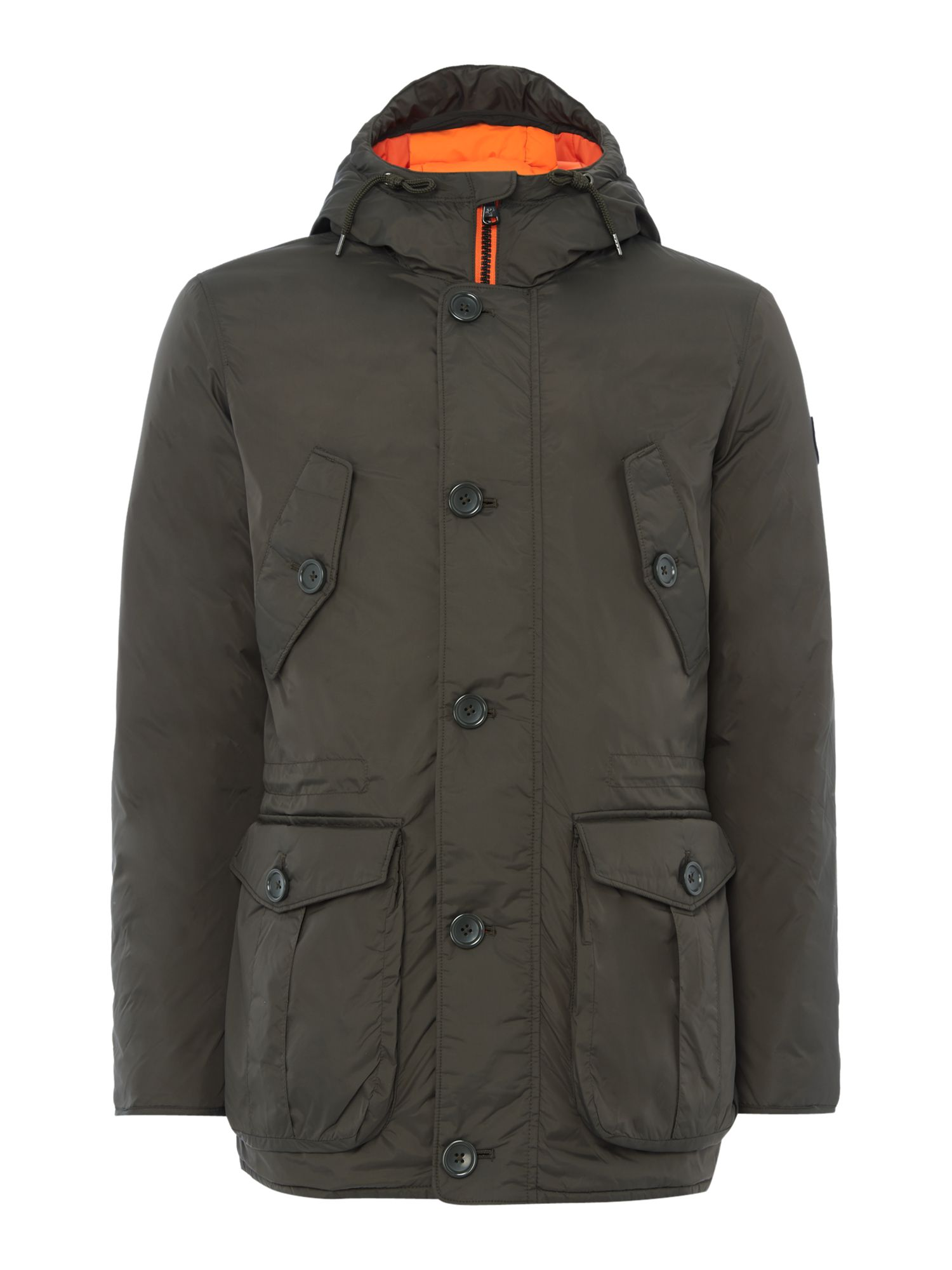 Mens Puffa Minter Padded Parka Jacket Olive