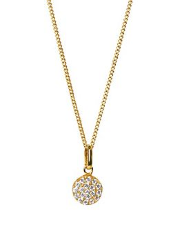 Yellow gold vogue pendant