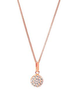 Rose gold vogue pendant
