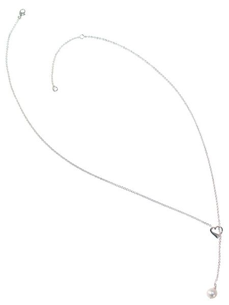 Sheenashona Sterling silver true love pearl lariat