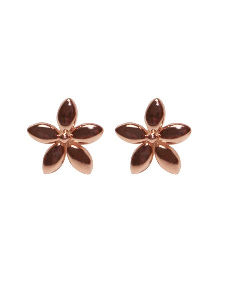 Sheenashona 9ct rose gold flower stud earrings