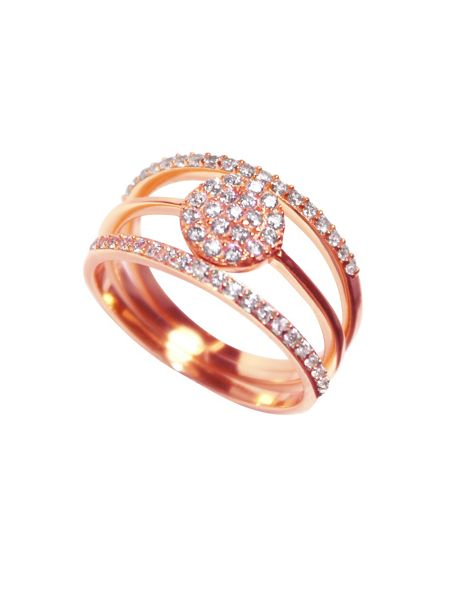 Sheenashona Rose gold vogue stacked rings