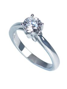 Sheenashona Sterling Silver Antwerp Solitaire Ring