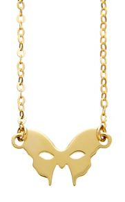 Yellow gold mask necklace