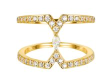 Yellow cubic zirconia marquise ring