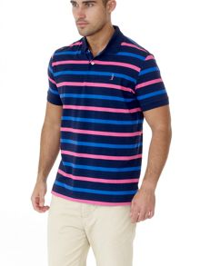 6th Sense 3 colour stripe polo shirt