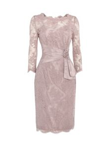 Megan lace dress with embellishment