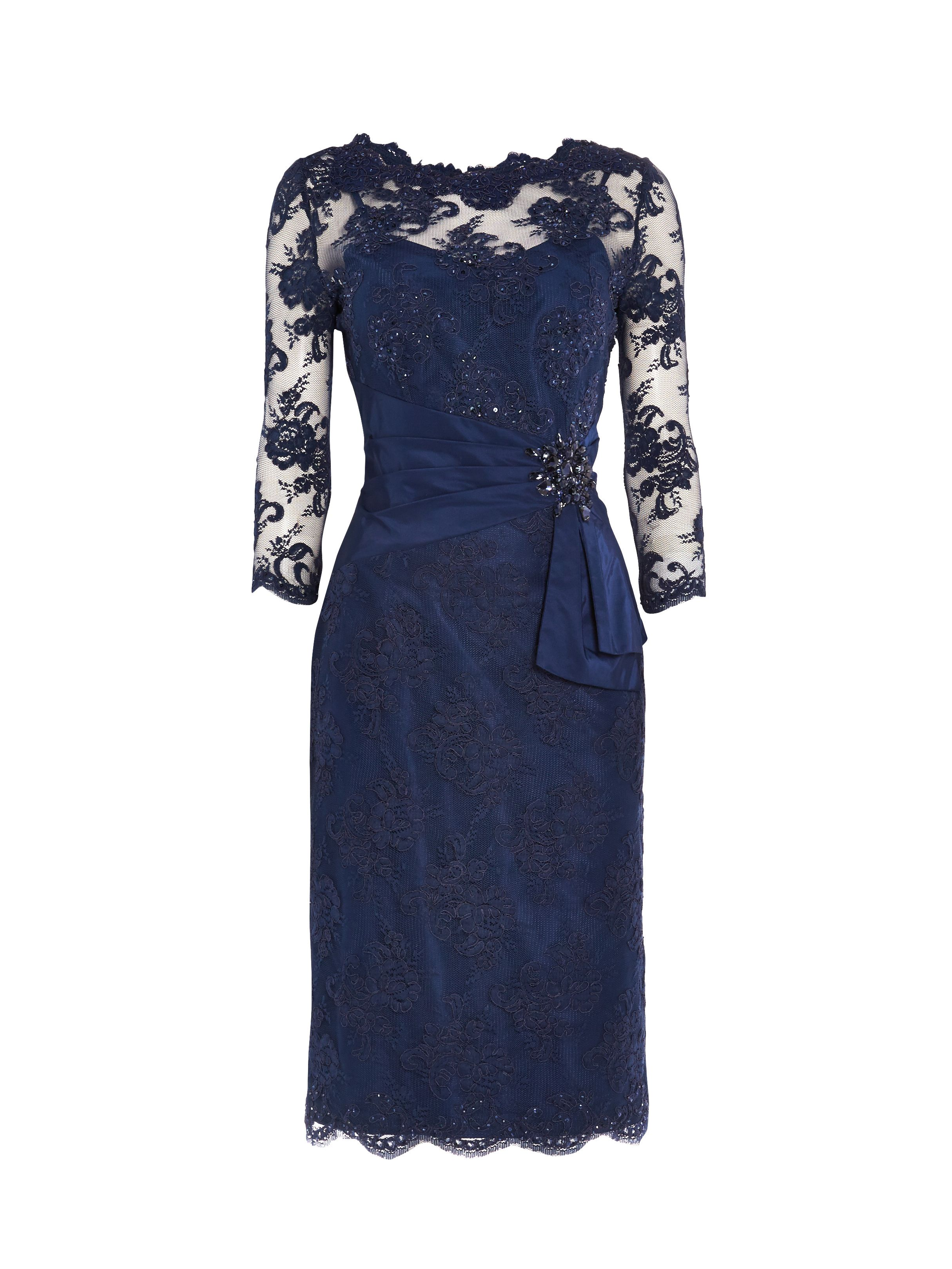 ANOUSHKA G Megan lace dress with embellishment, Blue