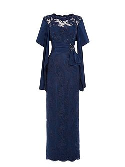 Martha embellished lace maxi dress