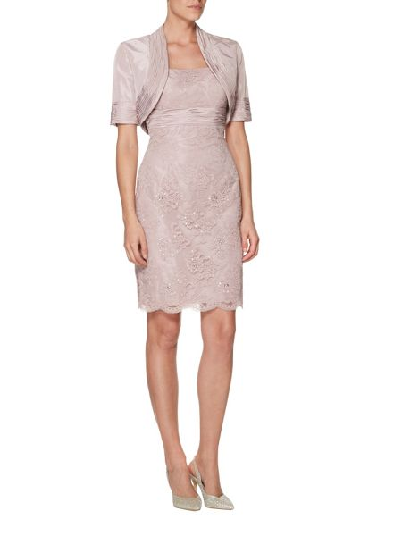 ANOUSHKA G Bethany beaded lace dress with bolero