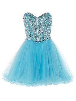Mia crystal embellished party dress