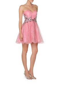 Chloe sweatheart neck short prom dress