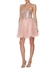 Cara short embellished prom dress